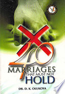 40 Marriages that must not Hold