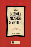 Memory  Meaning   Method