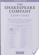 The Shakespeare Company, 1594-1642