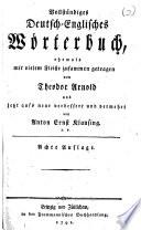 Vollst  ndiges deutsch englisches W  rterbuch