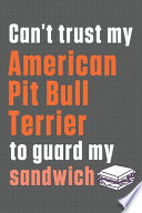 Can't Trust My American Pit Bull Terrier to Guard My Sandwich
