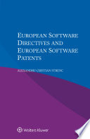 European Software Directives And European Software Patents