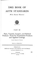 Book of ASTM Standards with Related Material, 1966