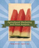 Agricultural Marketing and Price Analysis Book