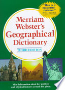 Merriam Webster s Geographical Dictionary Book