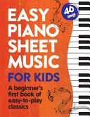 Easy Piano Sheet Music for Kids Book