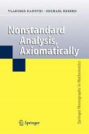Nonstandard Analysis  Axiomatically