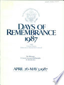 Days of Remembrance  1987 Book PDF