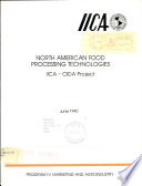 North American Food Processing Technologies Iica Cida Project Book PDF