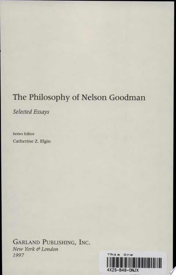 Nelson Goodman's Philosophy of Art