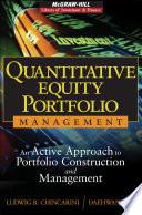 Quantitative Equity Portfolio Management Book