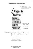 The US Capacity to Address Tropical Infectious Disease Problems