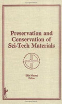 Preservation and Conservation of Sci tech Materials