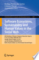 Software Ecosystems  Sustainability and Human Values in the Social Web