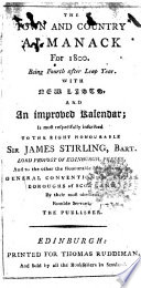 The Town and Country Almanack Book