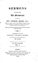 Sermons selected from the manuscripts of the late Rev  Charles Moore     Published by his son  Captain Charles Moore  etc