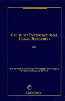 Guide To International Legal Research 2008