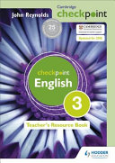 Books - Checkpoint English: Teachers Resource Book 3 | ISBN 9781444143911