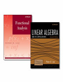 Linear Algebra and Its Applications  Second Edition   Functional Analysis Set