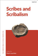 Scribes and Scribalism
