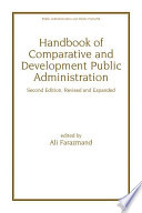 Handbook of Comparative and Development Public Administration