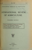 International Review Of Agriculture