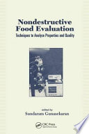 Nondestructive Food Evaluation Book