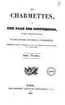 Les charmettes ou Une page des confessions comedie, melee de couplets par MM. Bayard, de Forges et Vanderburck
