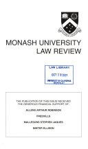 Monash University Law Review