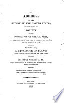 An Address on the Botany of the United States Book