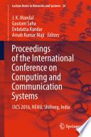 Proceedings of the International Conference on Computing and Communication Systems