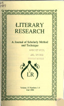 Literary Research Newsletter