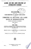 Alcohol And Drug Abuse Education Act Authorization Extension