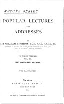 Popular Lectures and Addresses: Navigational affairs