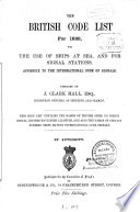 The British Code List for 1889  for the Use of Ships at Sea  and for Signal Stations