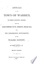 Annals of the Town of Warren  in Knox County  Maine