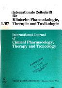 Internationale Zeitschrift Fuer Klinische Pharmakologie  Therapie und Toxikologie
