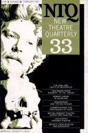 New Theatre Quarterly 33  Volume 9  Part 1