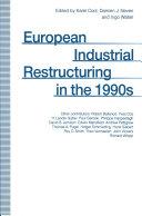 European Industrial Restructuring in the 1990s Pdf/ePub eBook