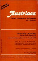 Austriaca, n°spécial - Deux fois l'Autriche après 1918 et après 1945 (vol. 1/3)