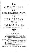 La comtesse de Château-Briant, ou les effets de la jalousie