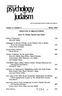 Journal of Psychology and Judaism