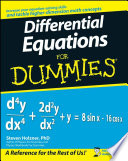 List of Dummies Differential Equations E-book