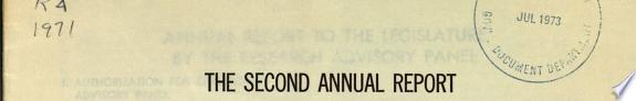 Annual Report to the Legislature and Governor