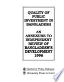 Quality of Public Investment in Bangladesh