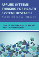 EBOOK  Applied Systems Thinking for Health Systems Research  A Methodological Handbook