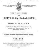 First Proofs of the Universal Catalogue of Books on Art: ...