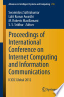 Proceedings of International Conference on Internet Computing and Information Communications Book