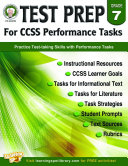 Test Prep for CCSS Performance Tasks  Grade 7