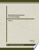 Manufacturing Science And Technology Icmst2011 Book PDF
